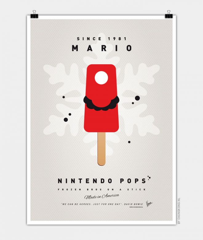 Super Mario Ice Pops Mario
