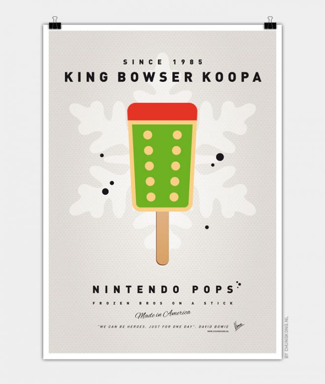 Super Mario Ice Pops Bowser