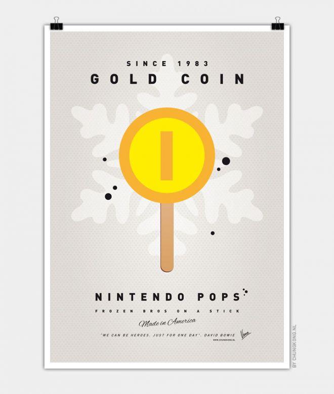 Super Mario Ice Pops Gold Coin