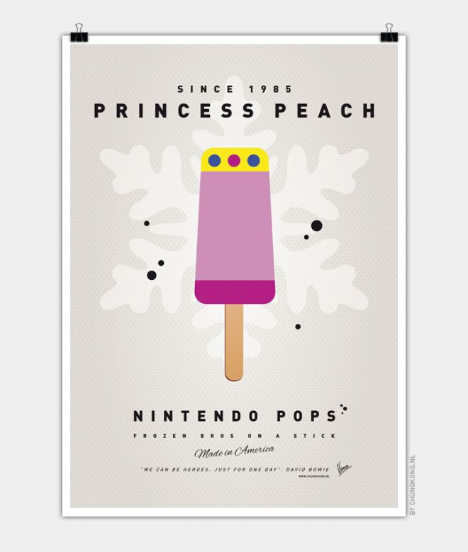 Super Mario Ice Pops Peach
