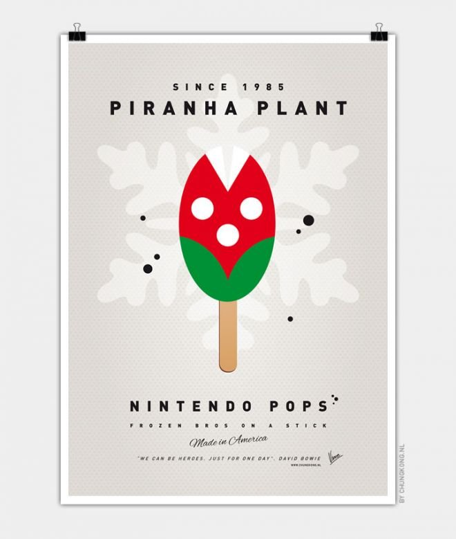 Super Mario Ice Pops Piranha Plant