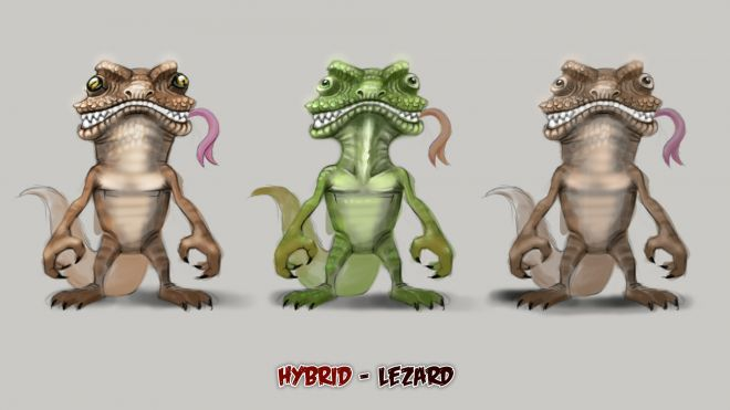 Lézards cartoon