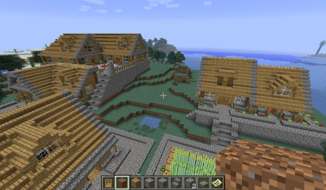 Minecraft - Village en bois