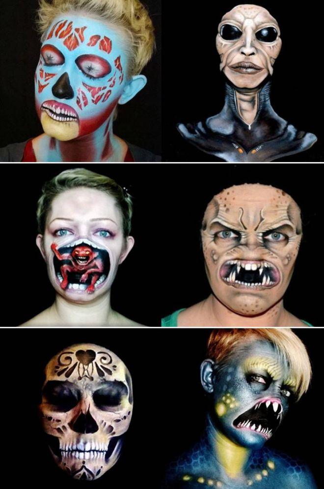 En effet, au départ, ce nétait quune aimable passion dictée par la volonté de maquiller ses trois enfants pour la fête Halloween.
