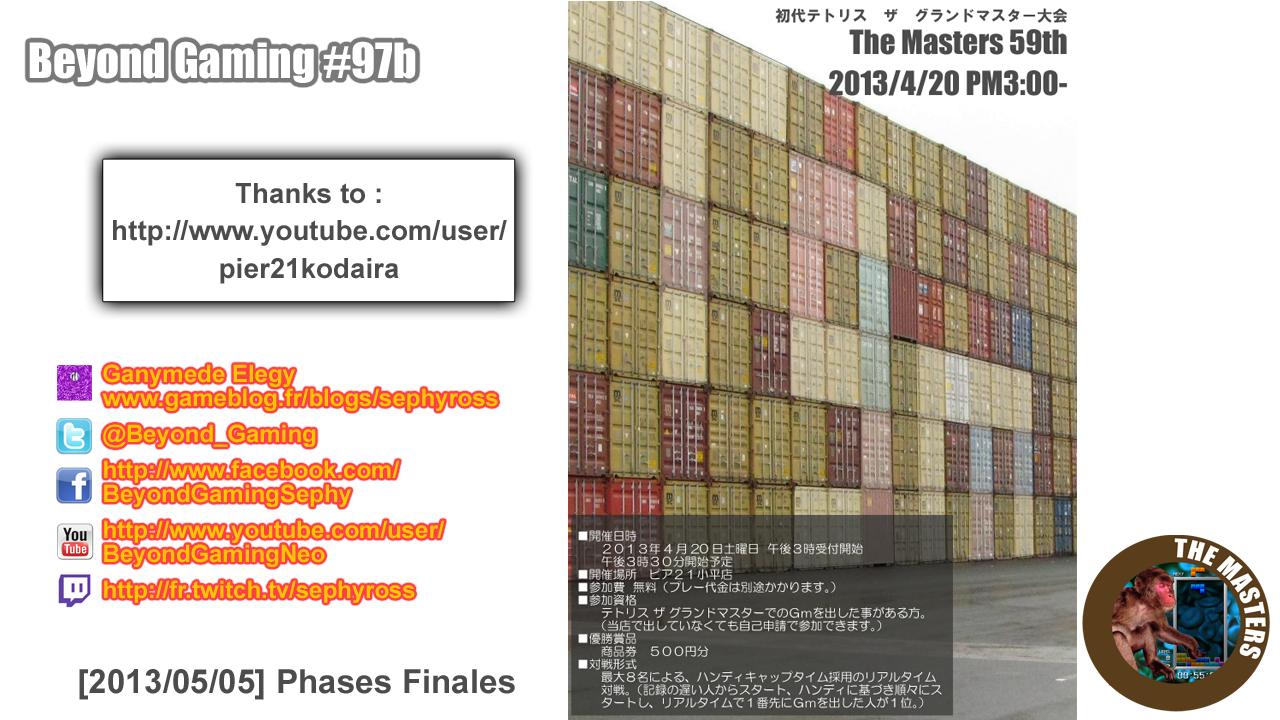 Beyond Gaming #97b Tetris TGM The Masters 59th - J'ai le tricotin