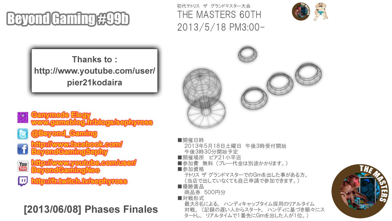 Beyond Gaming #99b Tetris TGM The Masters 60th - Obligé d'avoir un trou