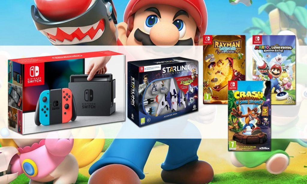 Promo Nintendo Switch : un megapack 4 jeux à 359 euros