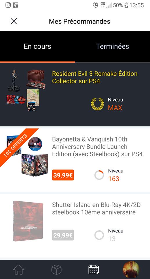 screenshot resident evil 3 collector mes precommandes