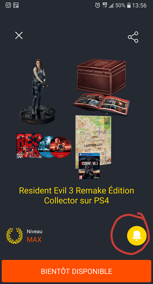 resident evil 3 collector screenshot contenu