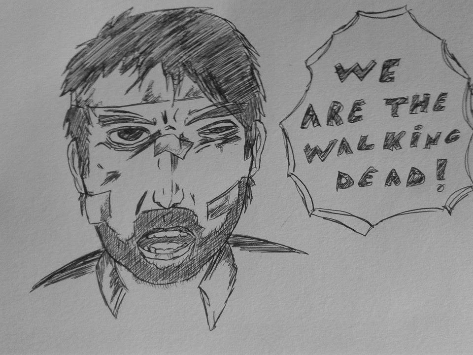 un dessin#160 we are the walking dead !