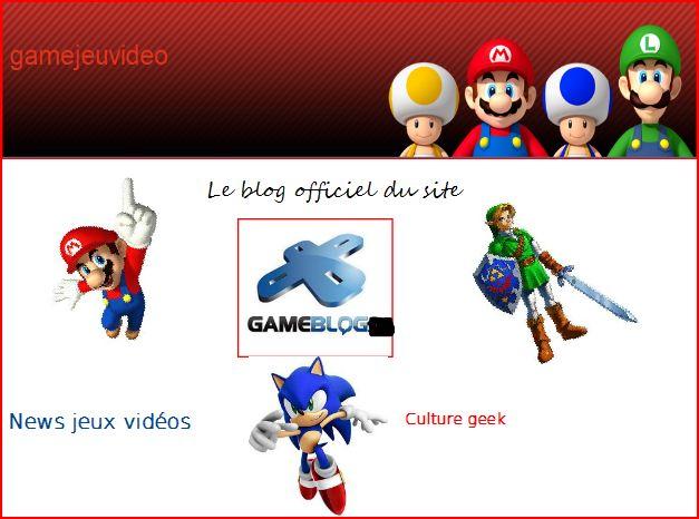 Gamejeuvideolesite, le gameblog