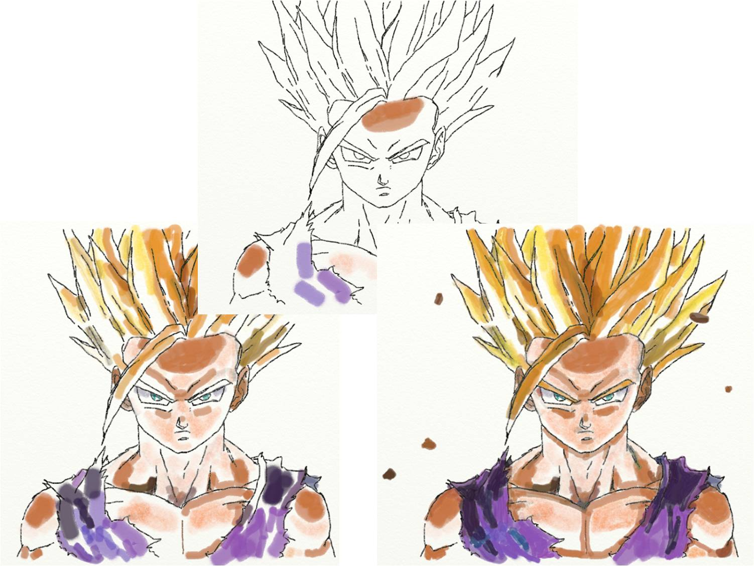 Illust 39 art 7 dragon ball en couleurs kame house - Dessin dragon couleur ...