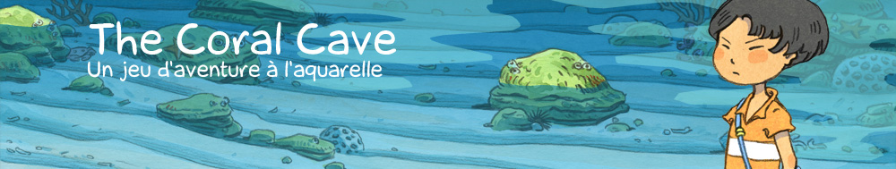 The Coral Cave - un jeu d'aventure à l'aquarelle