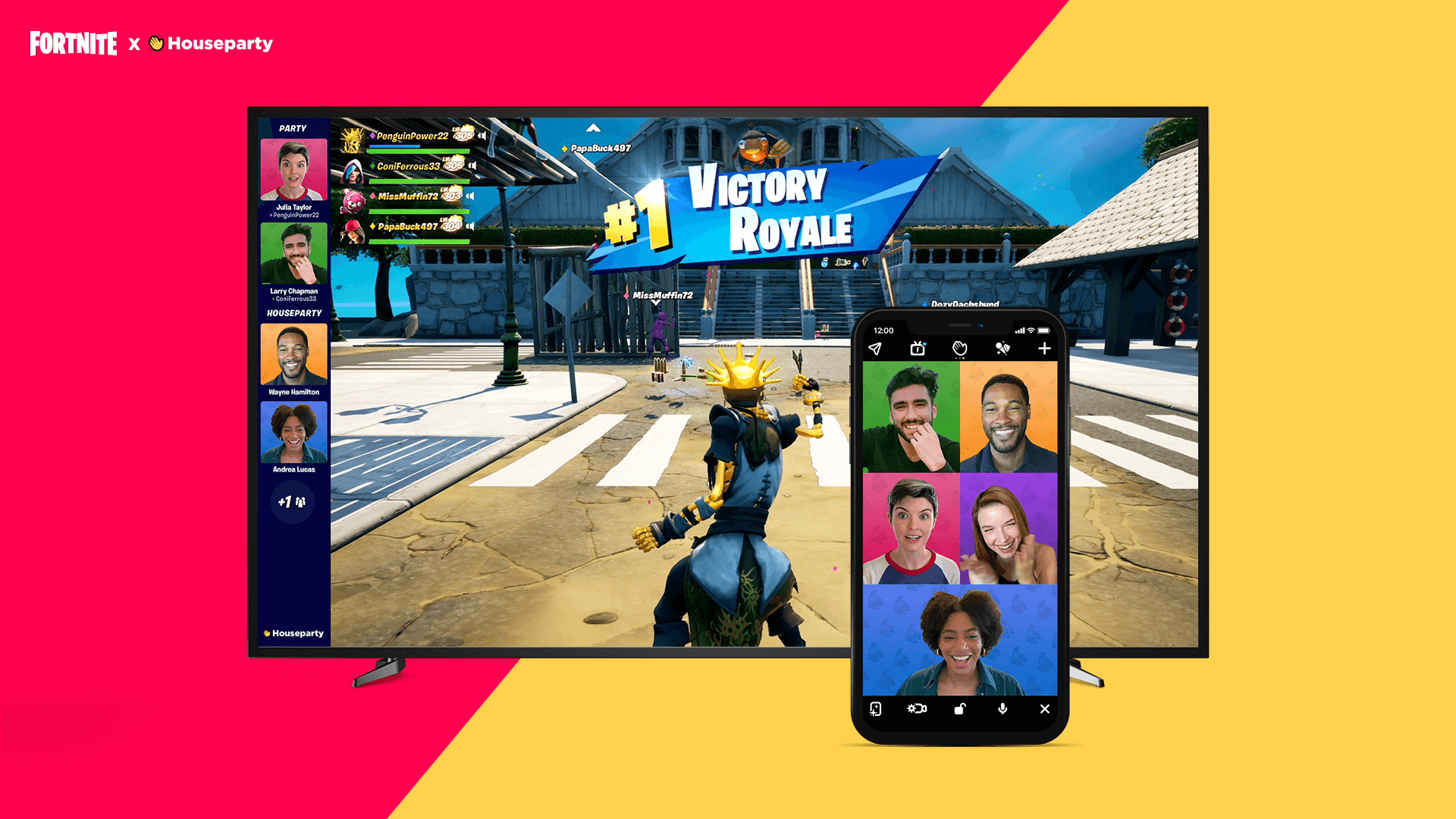 Fortnite : L'application de visioconférence Houseparty intégrée