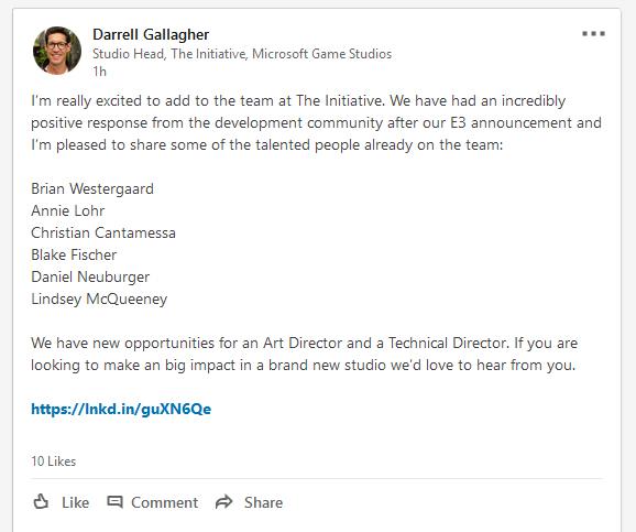 Annonce LinkedIn The Initiative