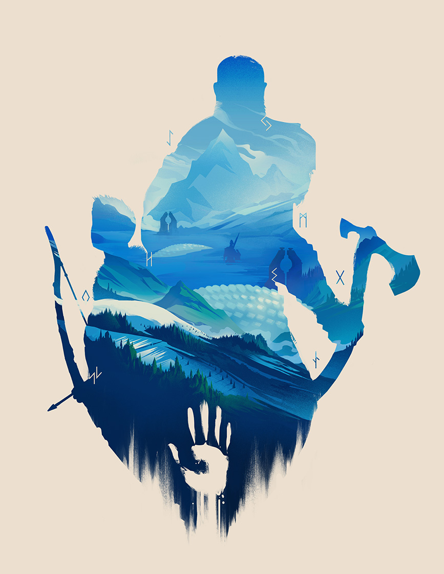 GoW silhouette-small