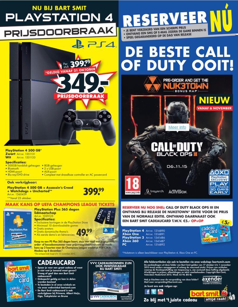 PS4 baissedeprix Hollande
