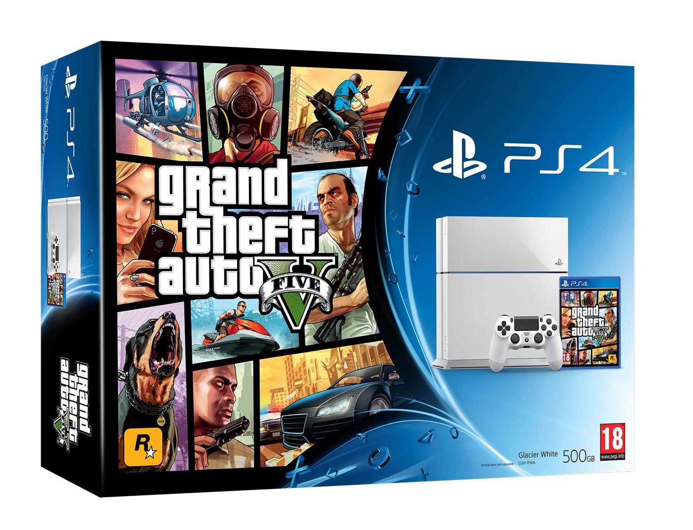PS4 white HW GTAV 3D GW PEGI