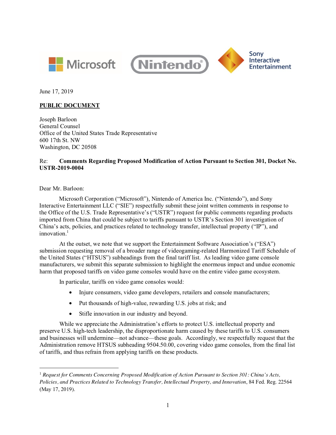 P - Microsoft Nintendo of America Sony Interactive Entertainment - List 4