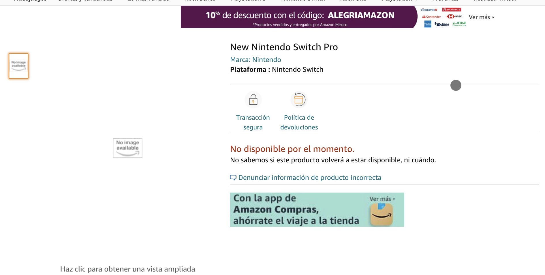 Switch Pro Amazon Mexique