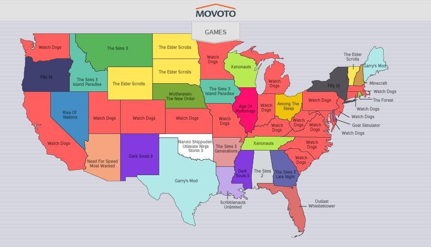 carte USA JeuxPirates