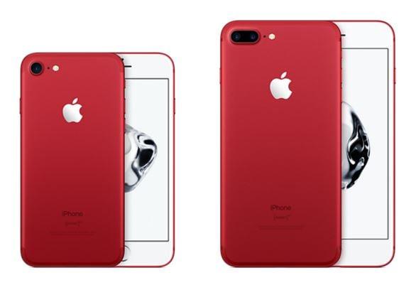 iPhone 7 et 7 Plus red
