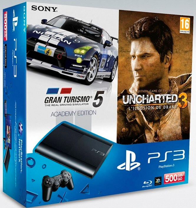 pack ps3 500GoGT5Uncharted3
