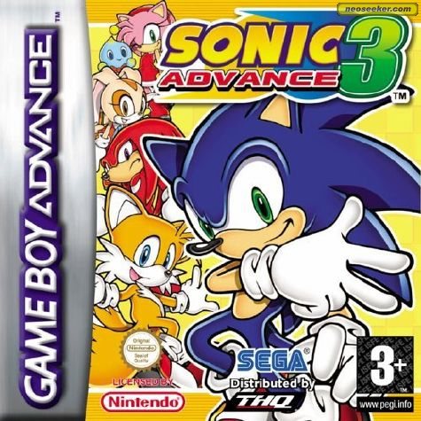 SonicAdvance3 GBA Jaquette 001