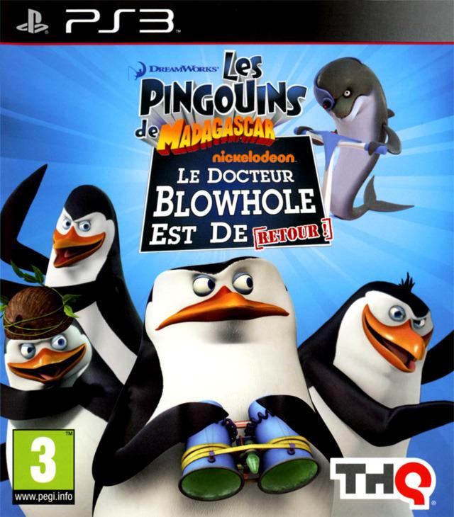 LesPingouinsdeMadagascar-LeretourdeDr.Blowhole- PS3 Jaquette 002