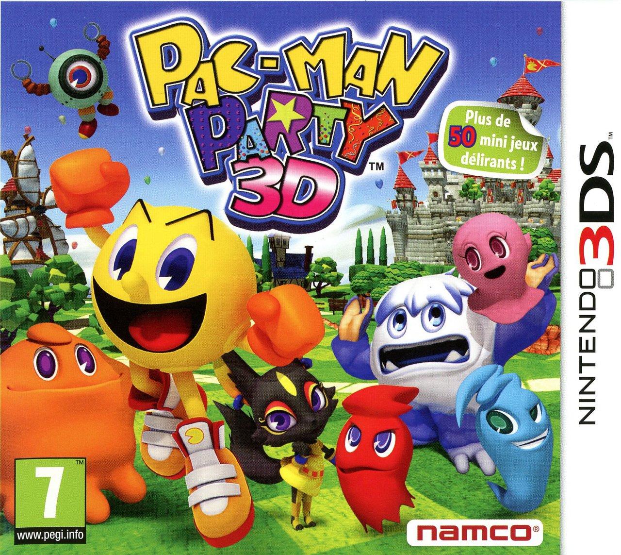 Pac-ManParty3D 3DS Jaquette 002