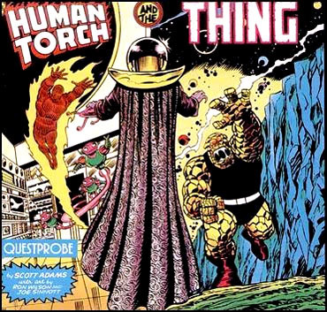 Questprobe featuring The Human Torch and The Thing