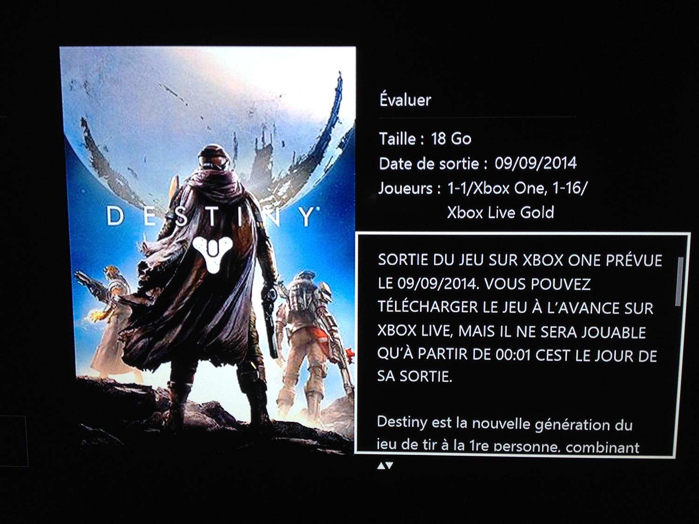 Destiny Xbox One Div 002