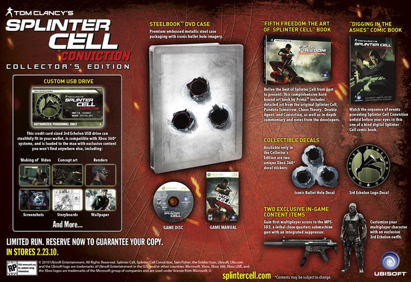 SplinterCellConviction X360 Div Collector