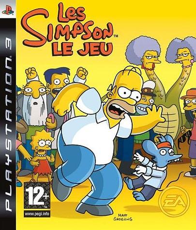 Simpsonle jeu PS3 Jaquette