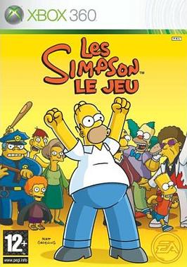 Simpsonle jeu X360 Jaquette