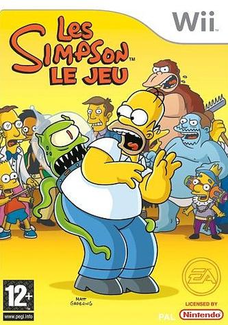 Simpsonle jeu Wii Jaquette