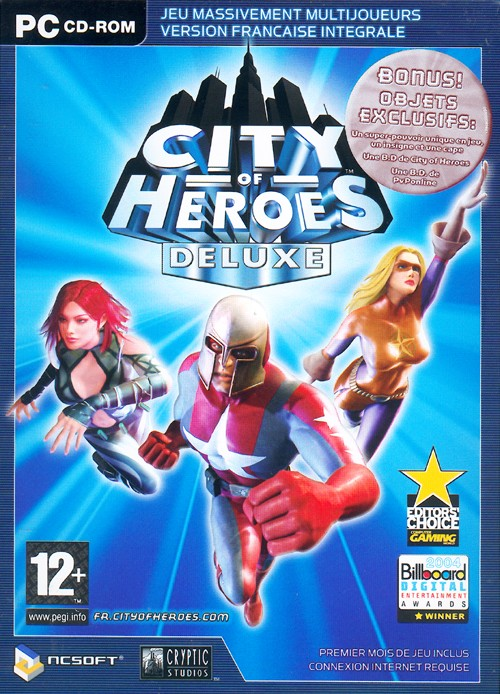 jaquette city of heroes pc