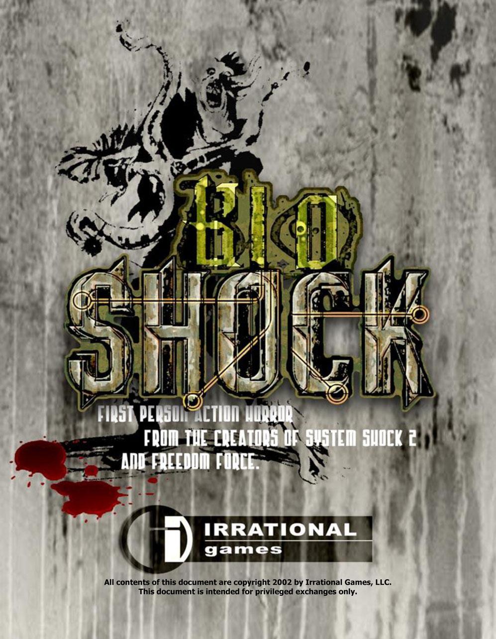 BioShock DesignDoc div001