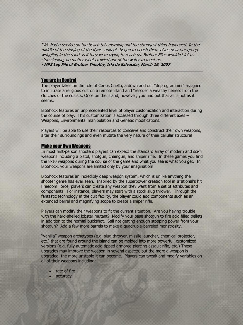 BioShock DesignDoc div006