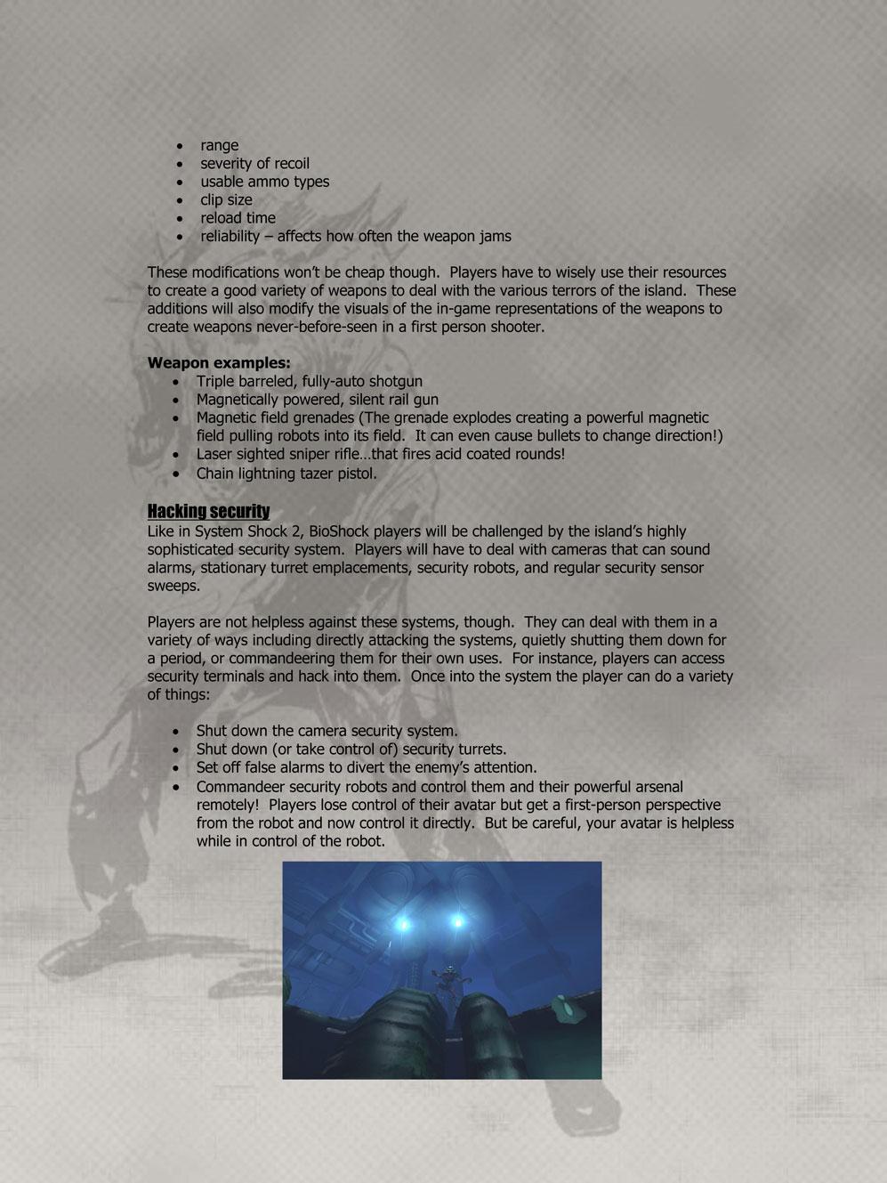 BioShock DesignDoc div007
