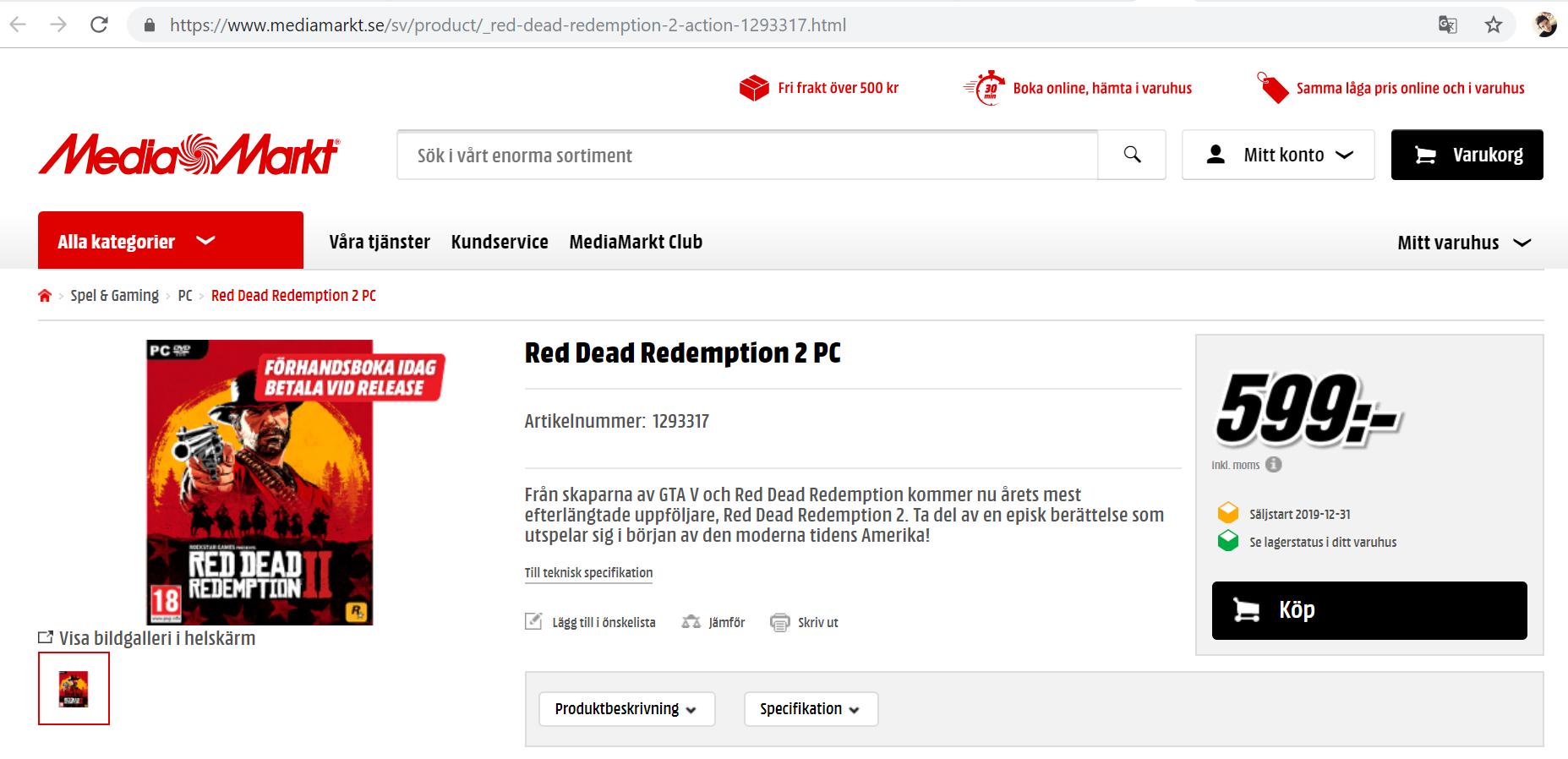 RedDeadPCMediaMarkt