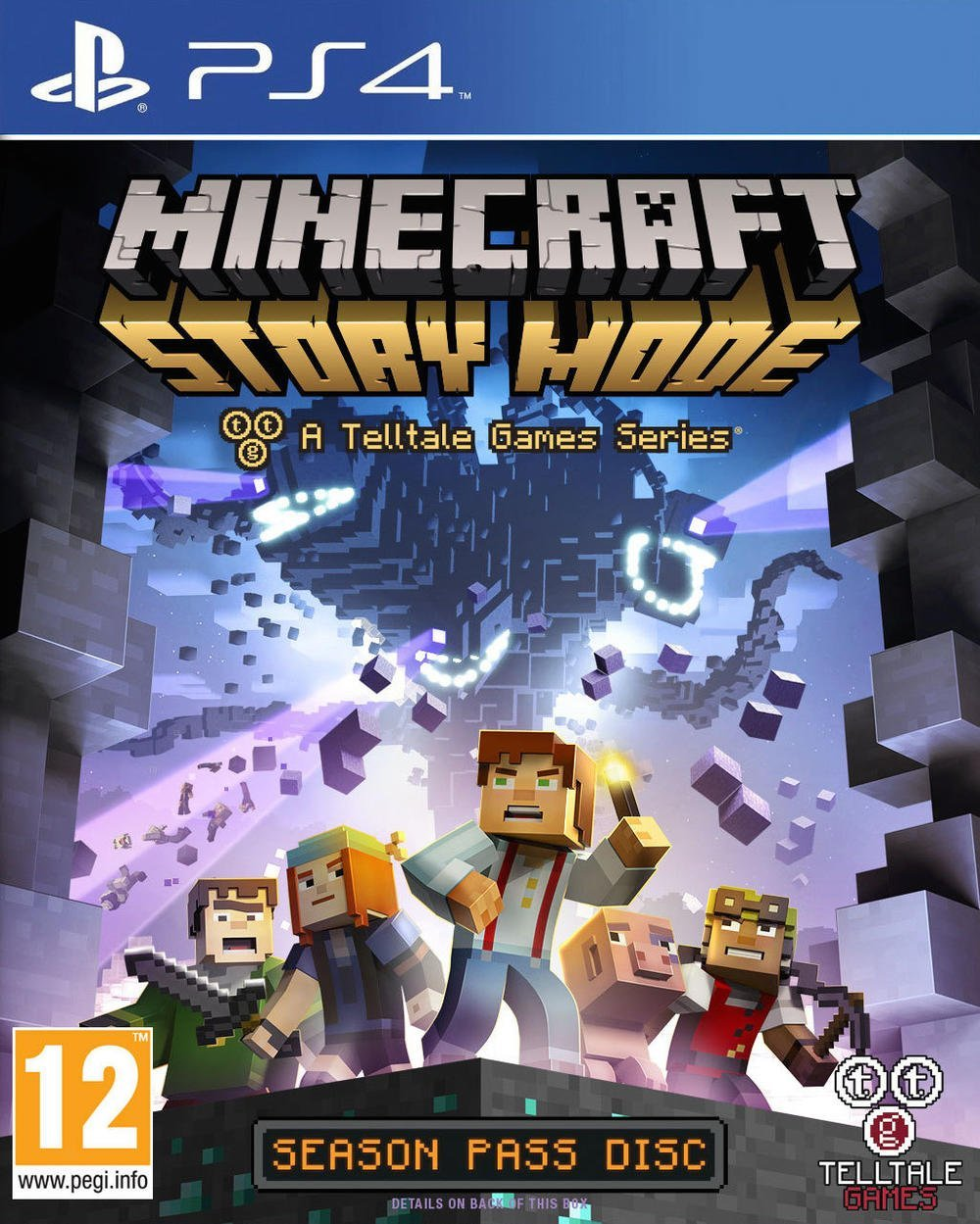 Minecraft-StoryMode PS4 Jaquette 001