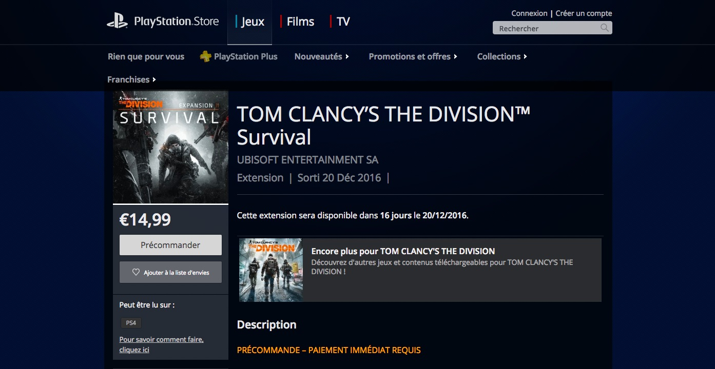 TheDivision-Survival PS4 Div 001