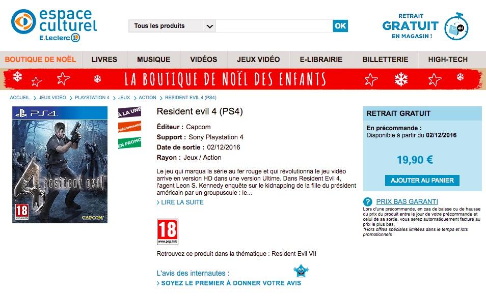 ResidentEvil4 PS4 Div 001