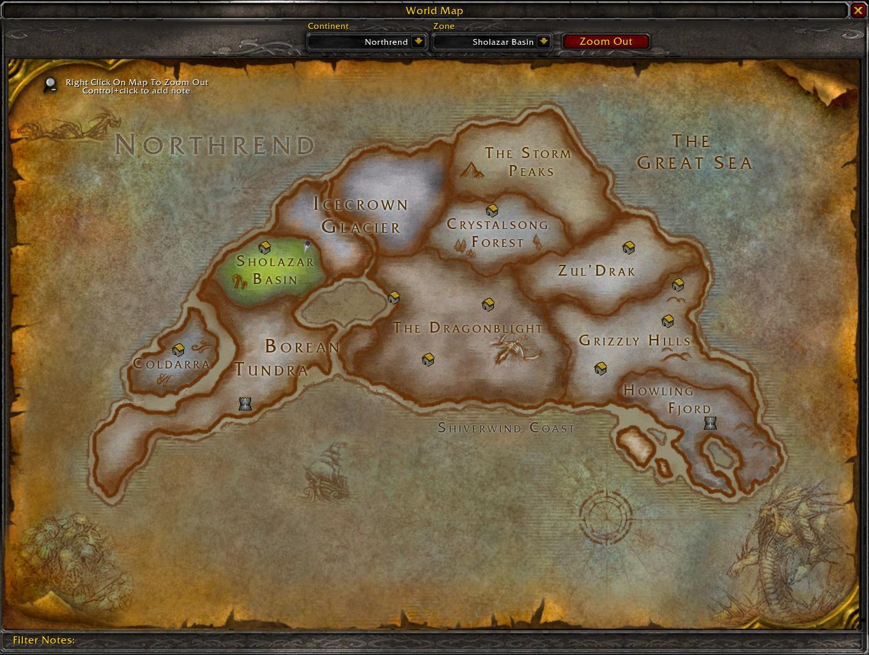 Northrend map