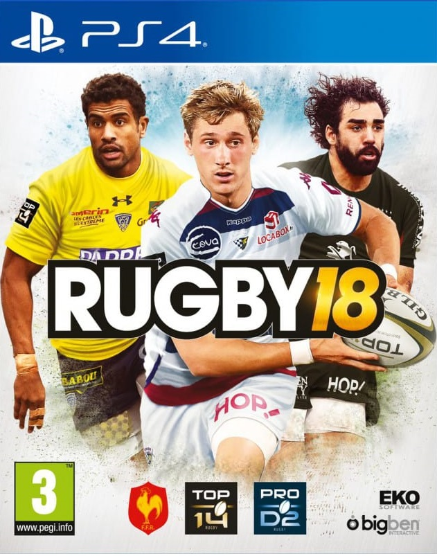 Rugby18 PS4 Jaquette 001