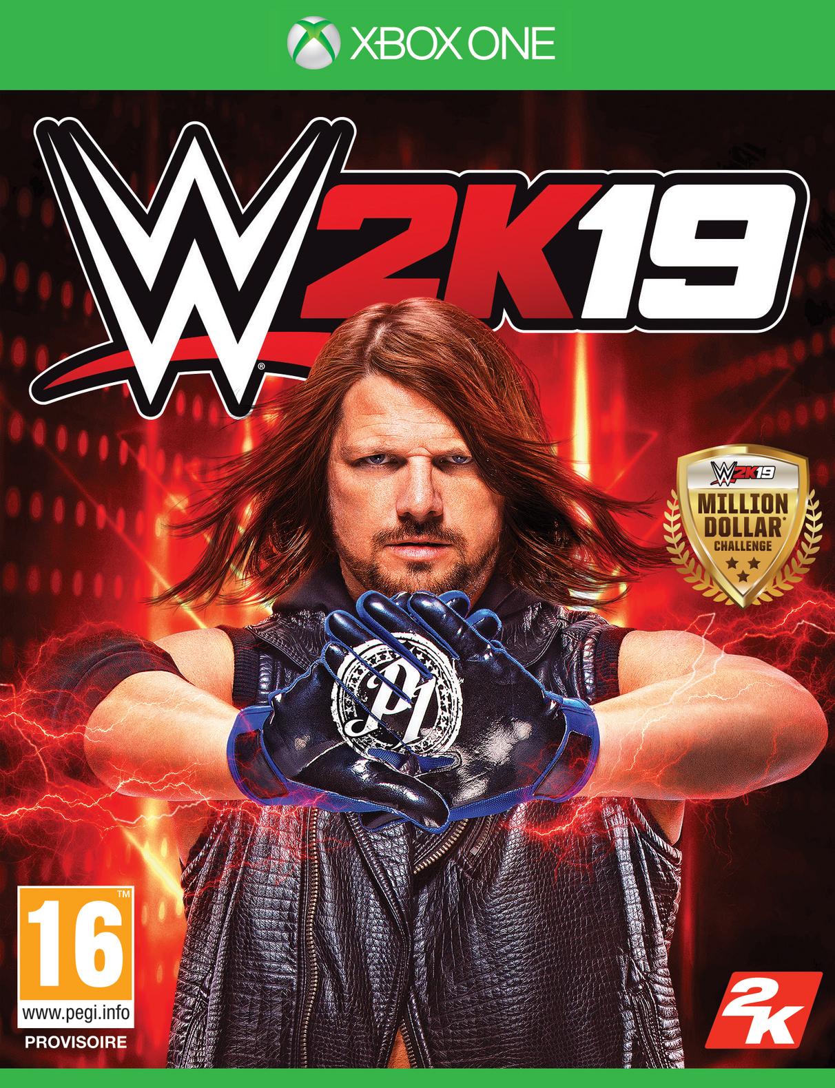WWE2K19 XB1 Jaquette 001