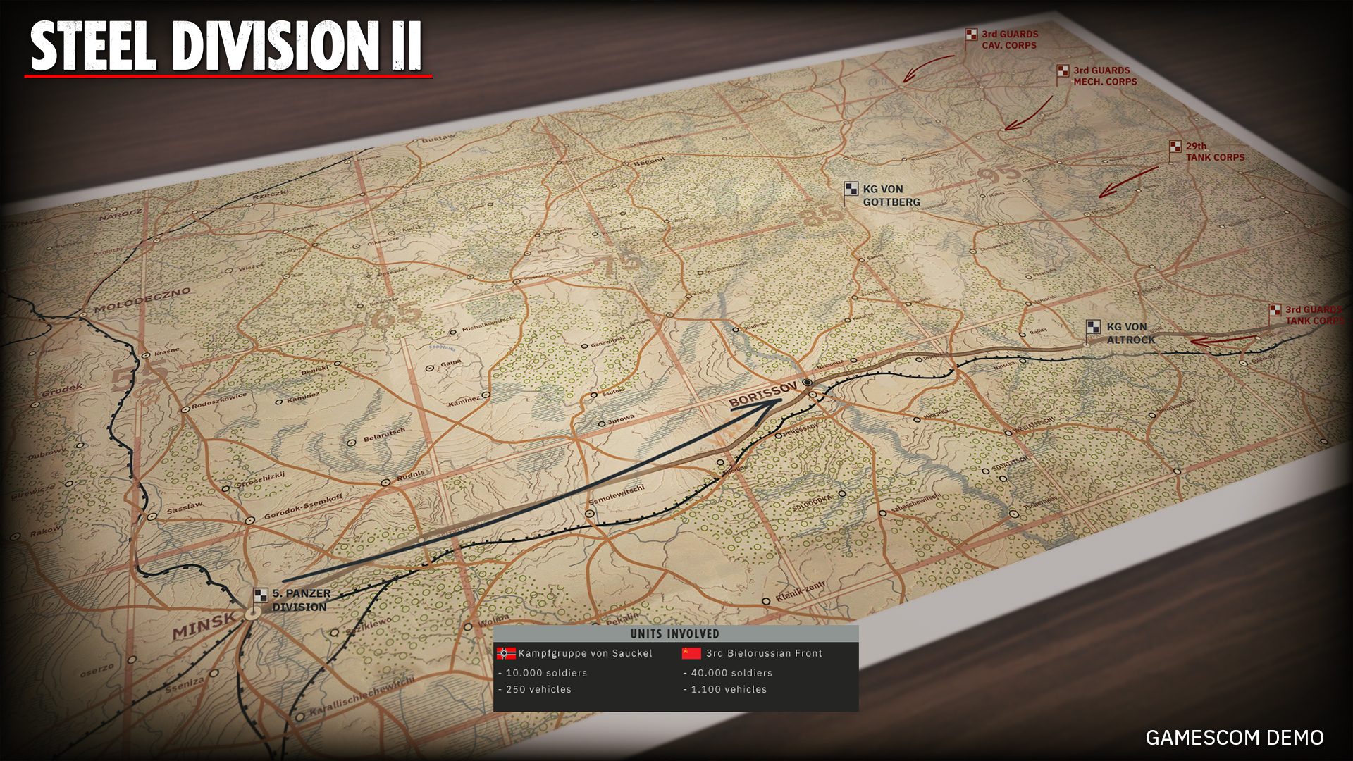 Steel Division 2 Gamescom Demo Introduction Map 06