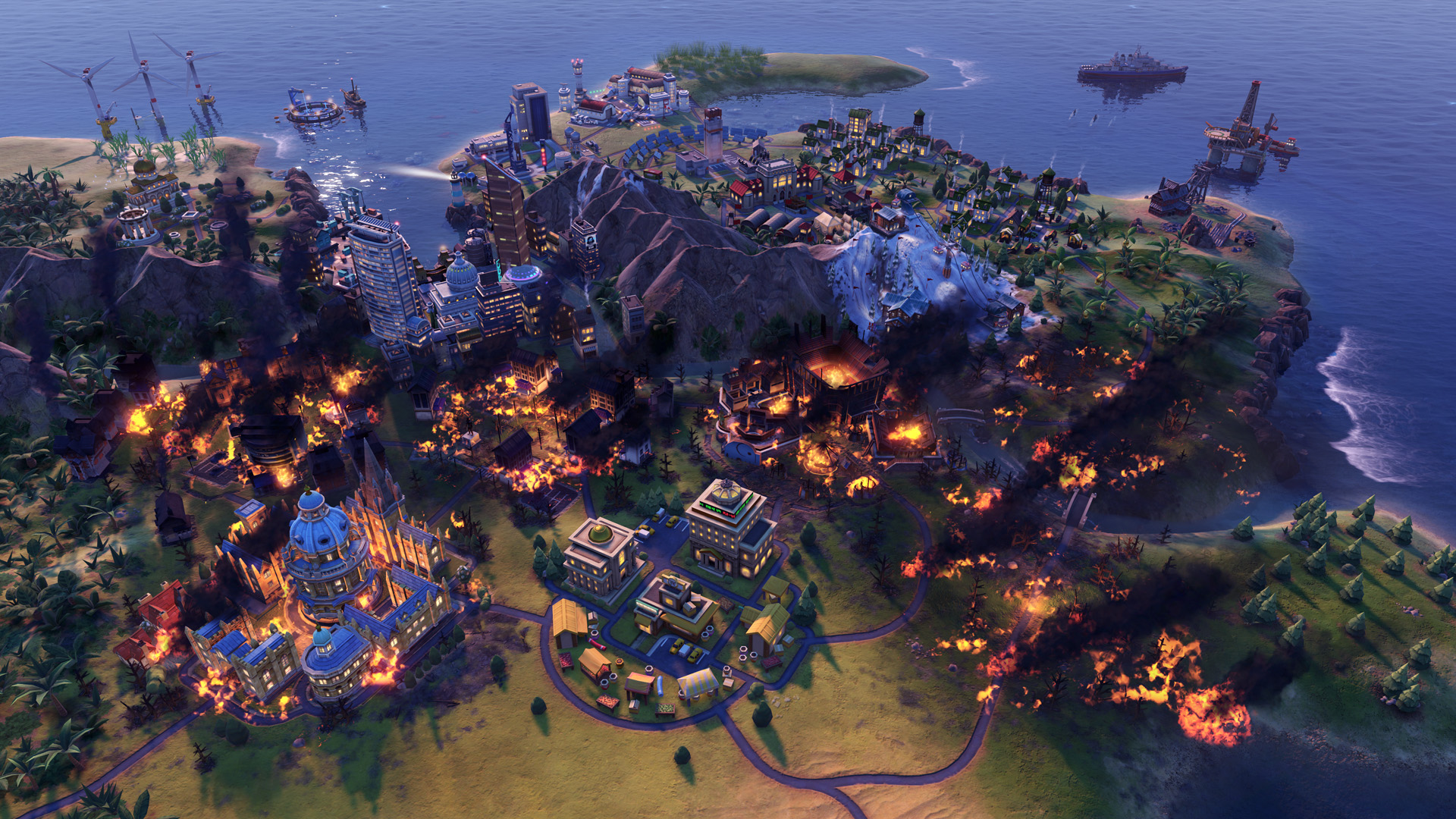 Civilization VI - New Frontier Pass - Maya - Gran Colombia Pack - Apocalypse Mode Forest Fire