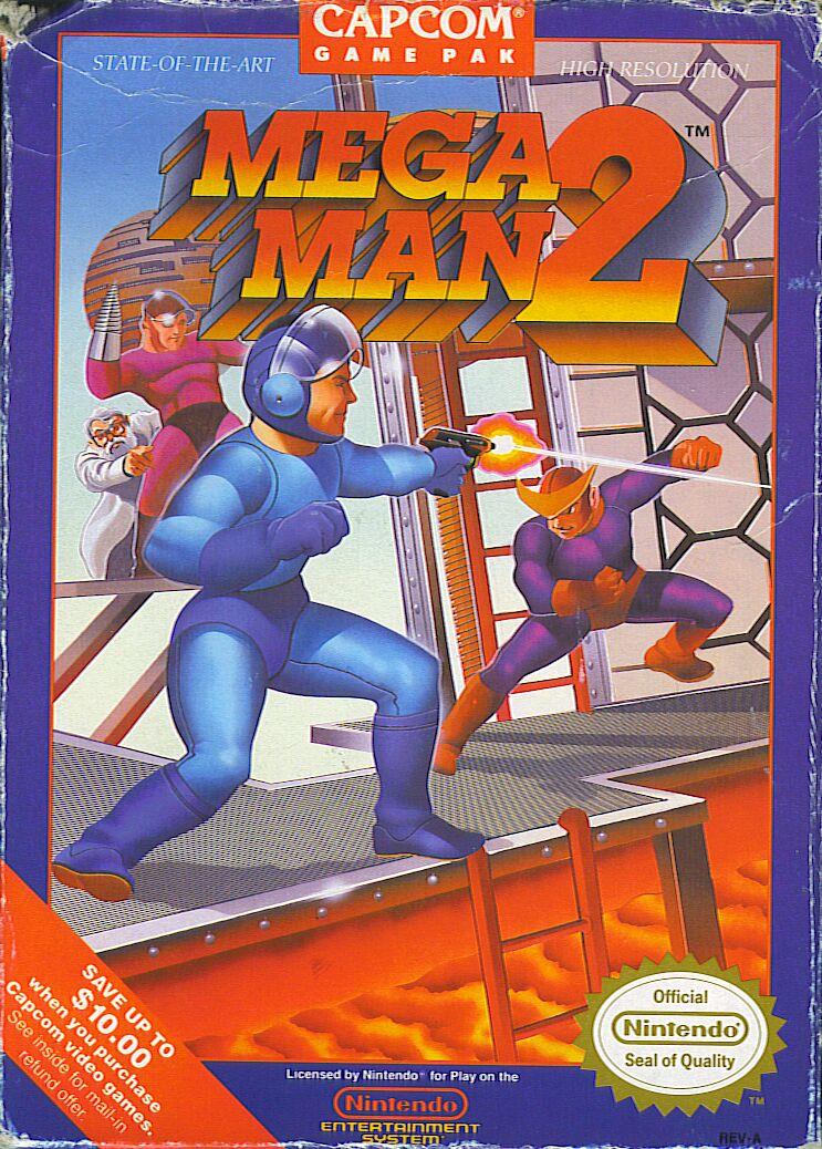 Megaman2 NES Jaquette